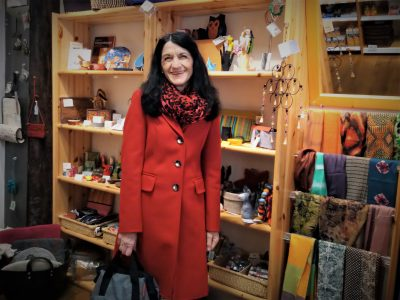 Andrea Schmidt im Eine-Welt-Laden