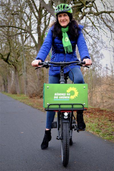 Andrea Schmidt - immer unterwegs mit dem Fahrrad